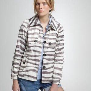 J. Crew Zebra printed jacket! SIZE 4. NWOT Trench